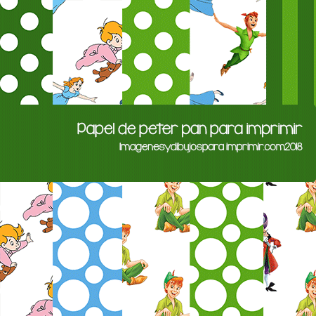 papel decorado de peter pan para imprimir