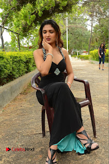 Actress Esha Agarwal  Pictures in Black Long Dress at at Lovers Park Movie Opening  0192.JPG