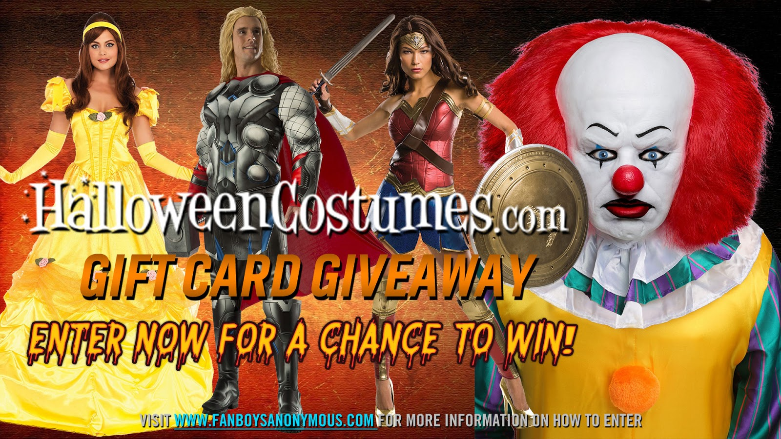 HOW TO WIN  sc 1 st  Fanboys Anonymous & Win a $50 Gift Card to HalloweenCostumes Giveaway Contest | Fanboys ...