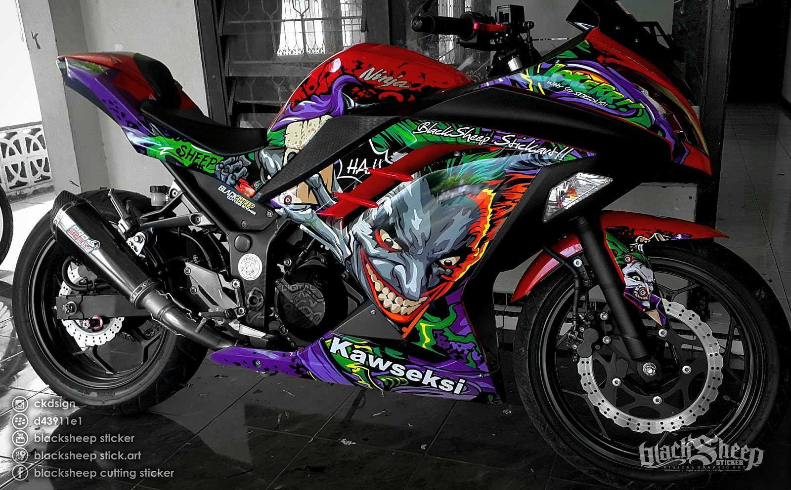 kawasaki ninja joker cutting sticker