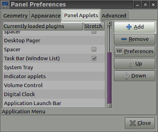panel preference panel applets in lubuntu