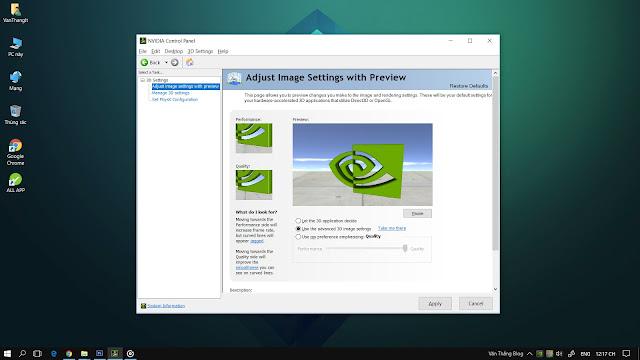 Tối ưu card đồ họa Nvidia laptop chơi game, tăng FPS cho game, Chơi game mượt hơn, Windows 10