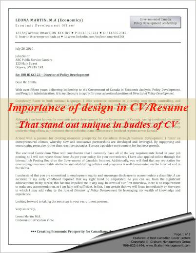 importance of cv  resume design and how to make it standout
