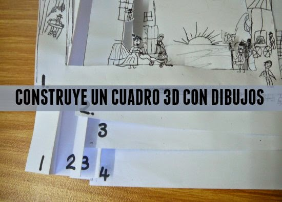 tunnel book, dimensional, cuadros, tarjetas, manualidades