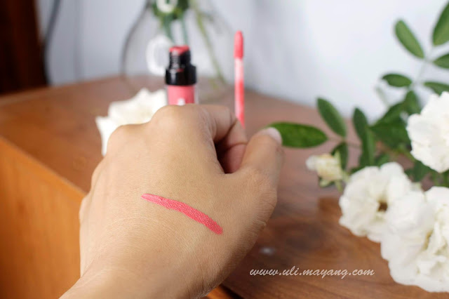 lipstick-gincu-latulip-cosmetick-stay-matte-lip-cream-no-03-hasil-swatch-teksture-oles-review-jual-harga