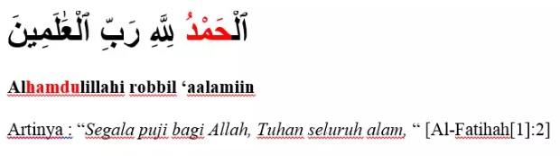 Surat Al-Fatihah ayat 2