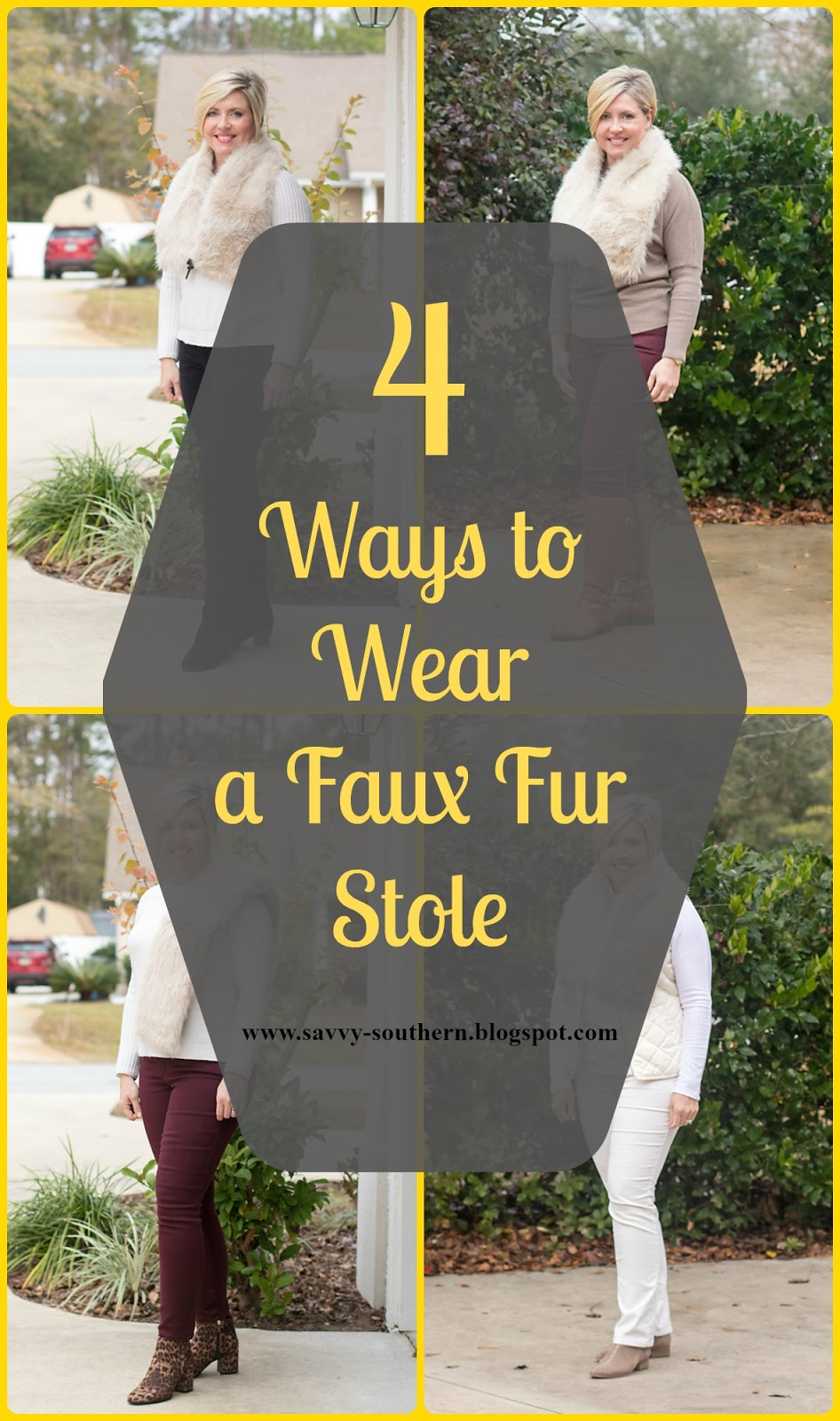 4 Ways to Wear a Faux Fur Stole