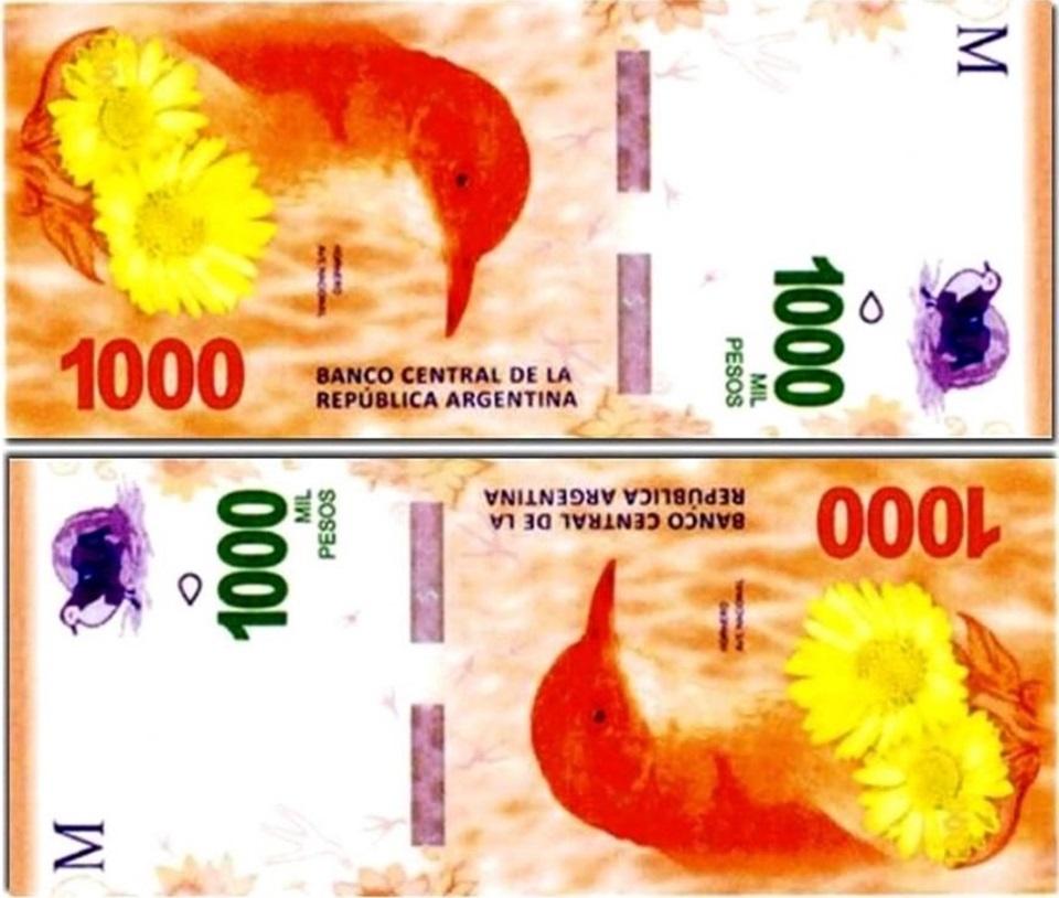 En diciembre sale el billete de 1000 pesos