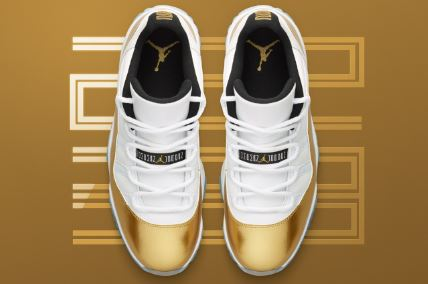 new product bb8d2 db473 THE SNEAKER ADDICT: Air Jordan 11 Gold Coin Low Closing ...