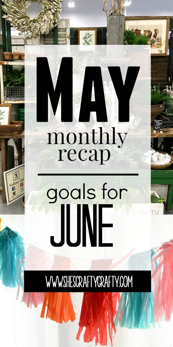 month end, recap, blog, blog goals, june goals, may