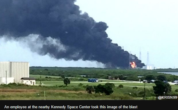 space x rocket explosion florida