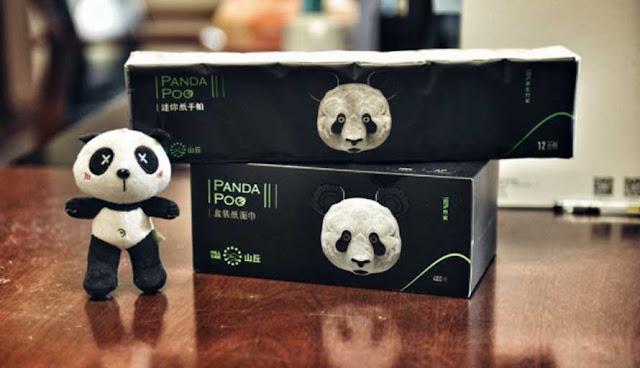 Kertas tisu dengan merek Panda Poo