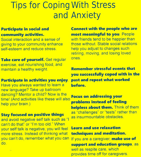 Tips for Coping with Stress and Anxiety. From the American Psychological Society's website