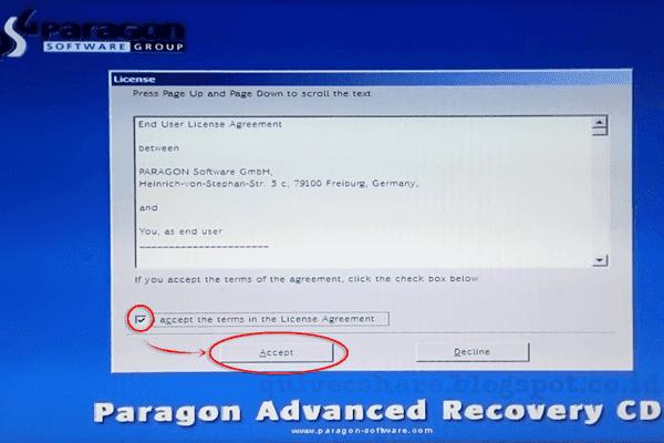 paragon adaptive restore iso