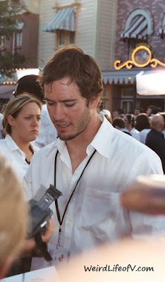 Mark-Paul Gosselaar signing autographs at the Pirates of the Caribbean premiere