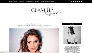 Glam Up Blogger Template