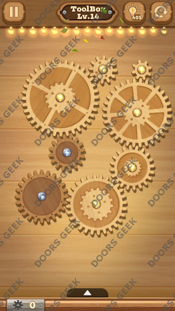 Fix it: Gear Puzzle [ToolBox] Level 14 Solution, Cheats, Walkthrough for Android, iPhone, iPad and iPod