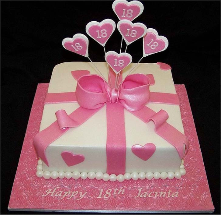 Pleasant 18Th Birthday Cake Design Ideas Funny Birthday Cards Online Elaedamsfinfo