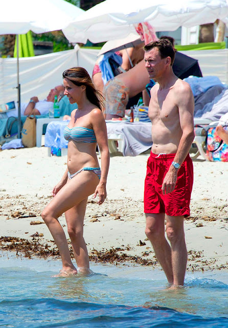 Prince Joachim and Princess Marie on holiday in Saint Tropez