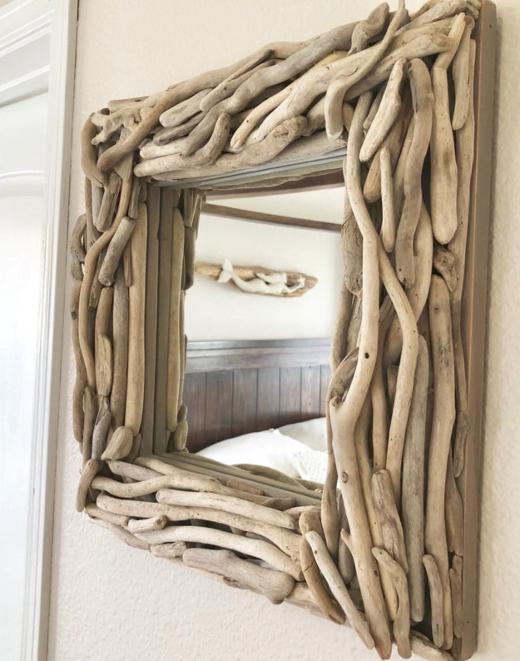 Decorative Handmade Driftwood Wall Mirrors