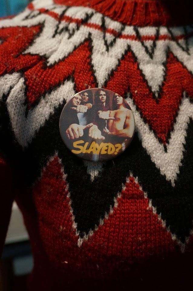 slade slayed glam rock badge pinback pin button