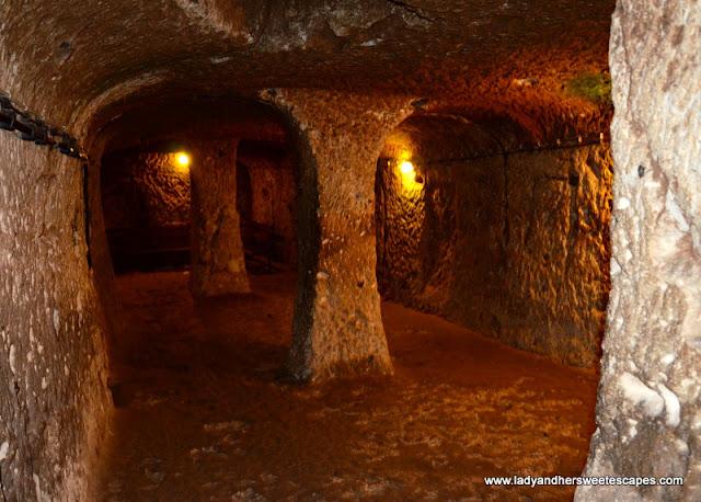 deepest underground city in Cappadocia