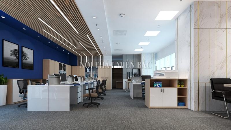 Thiết kế văn phòng làm việc có tính hiện đại cao