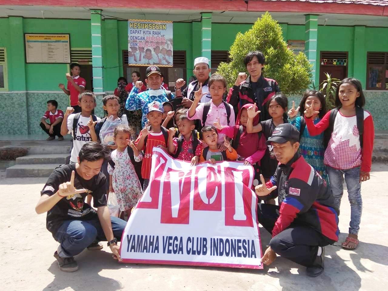 Yamaha Vega Club Indonesia Terus Bantu Korban Bencana Tsunami Selat Sunda