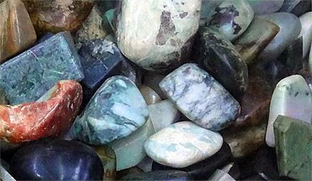 rough blue jade stones