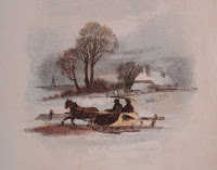 Scene of winter sleighing