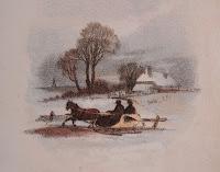 Scene of winter sleighing