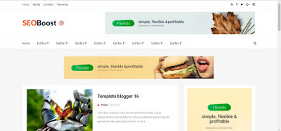 SeoBoost Blogger Template Portugues
