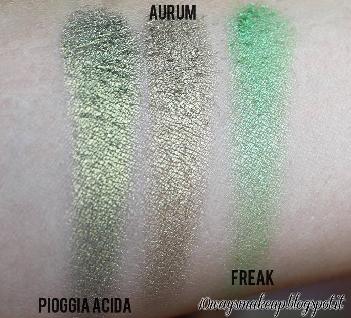 neve cosmetics duochrome pioggia acida swatch