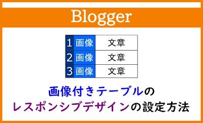 Blogger Labo:【Blogger】画像付きテーブルのレスポンシブデザインの設定方法