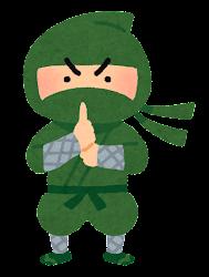 忍者のイラスト(緑)