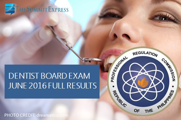 PRC releases June 2016 Dentist board exam results