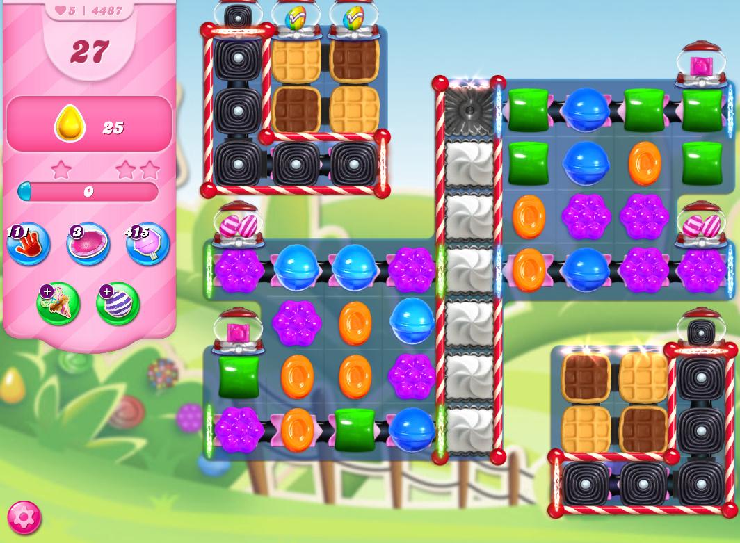 Candy Crush Saga level 4487