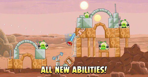 Screen Shot Of Angry Birds Star Wars (2012) Full PC Game Free Download With Patch At worldfree4u.com
