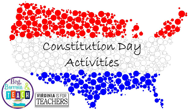 Constitution Day activities that can be done in Language Arts and Social Studies or Civics class.   Vocabulary graphic organizer for the Preamble to the Constitution.