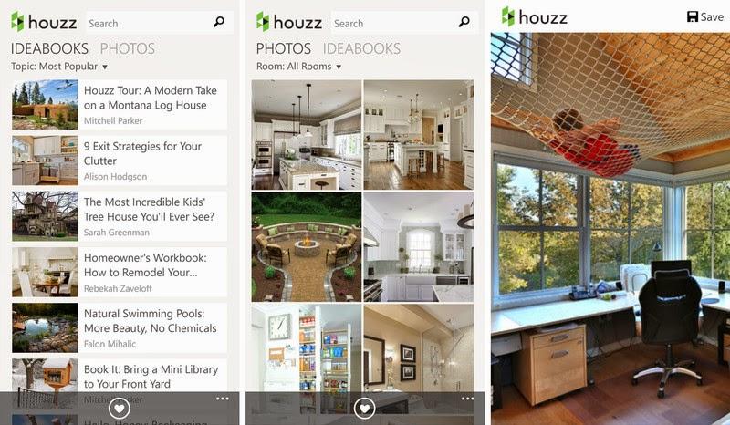 تطبيق Houzz لافضل و اجمل الديكورات المنزلية متوفر الان على Windows phone