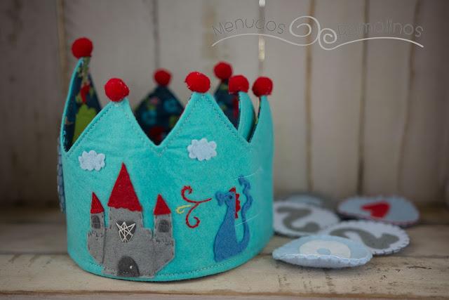 Corona de cumpleaños dragones