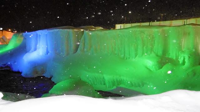 北海道 層雲峡氷爆まつり イルミネーション