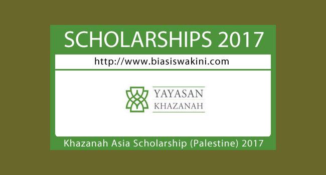 Khazanah Asia Scholarship (Palestine) 2017
