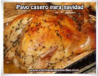 Recetas navideñas, carnes, pavo casero para navidad
