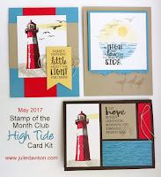 Stampin' Up! High Tide Card Kit ~ available from Stampin' Up! Demonstrator Julie Davison ~ www.juliedavison.com/clubs