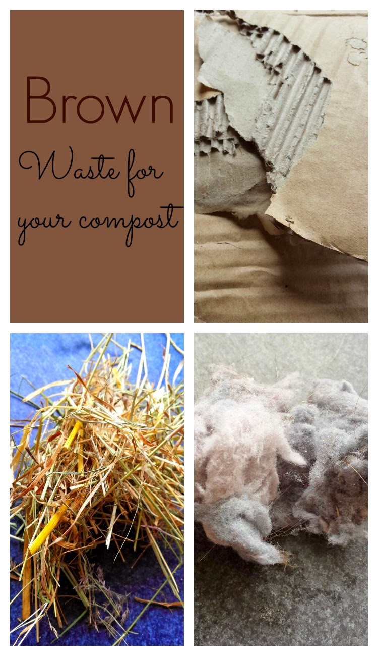 Brown waste for compost