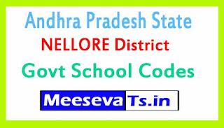 NELLORE District Govt School Codes in Andhra Pradesh State