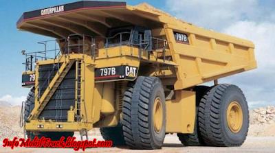 Caterpillar truk yang besar di dunia