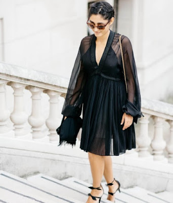 Golshifteh Farahani in black dress