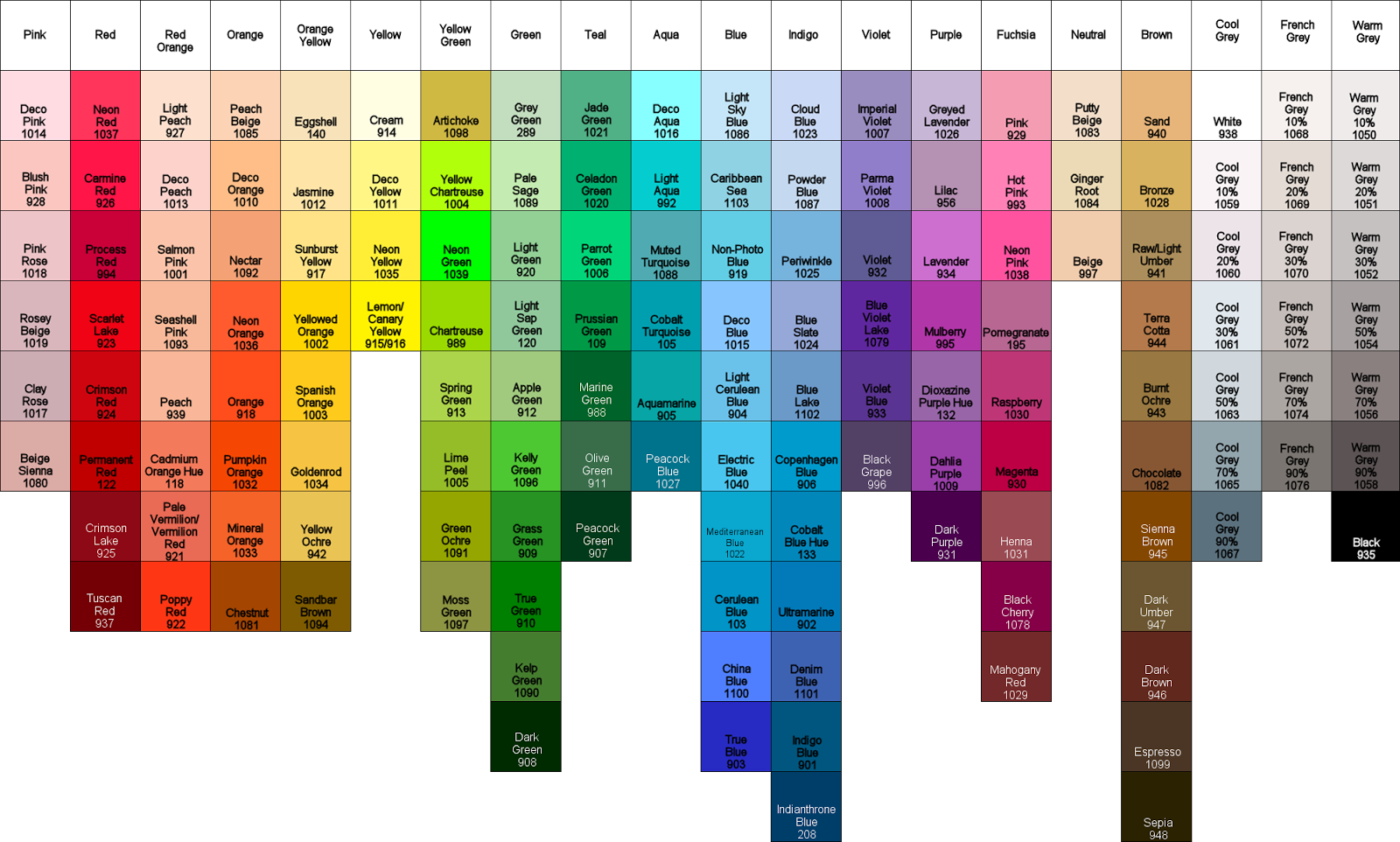 Veras custom quilts color guides seasonal colors geenschuldenfo Image collections